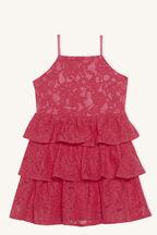 CARTIA TIER DRESS in colour AZALEA PINK