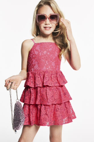 CARTIA TIER DRESS in colour AZALEA PINK
