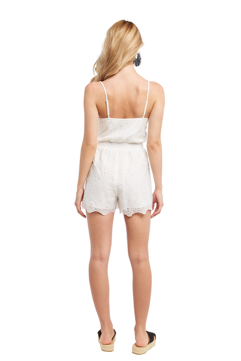 LACEY PLAYSUIT in colour CLOUD DANCER