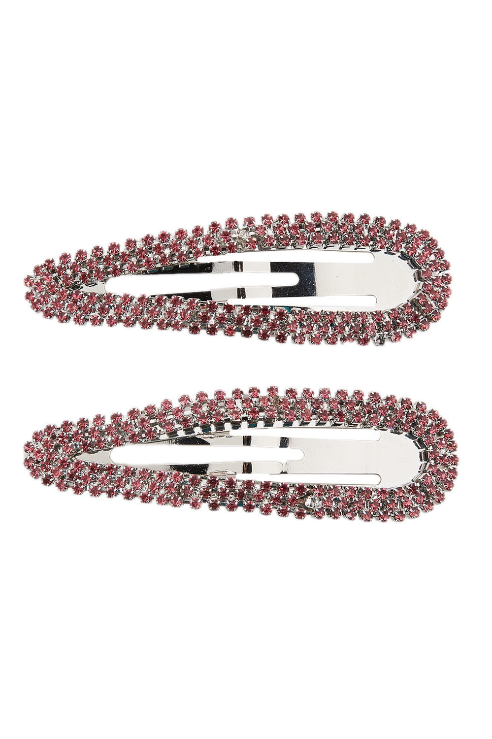 CRYSTAL STONE CLIP SET in colour PARADISE PINK