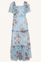 TWEEN GIRL MIA TIERED MIDI DRESS in colour BALLAD BLUE