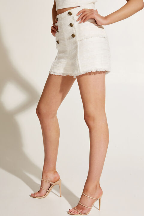 BOUCLE SHORT in colour BRIGHT WHITE