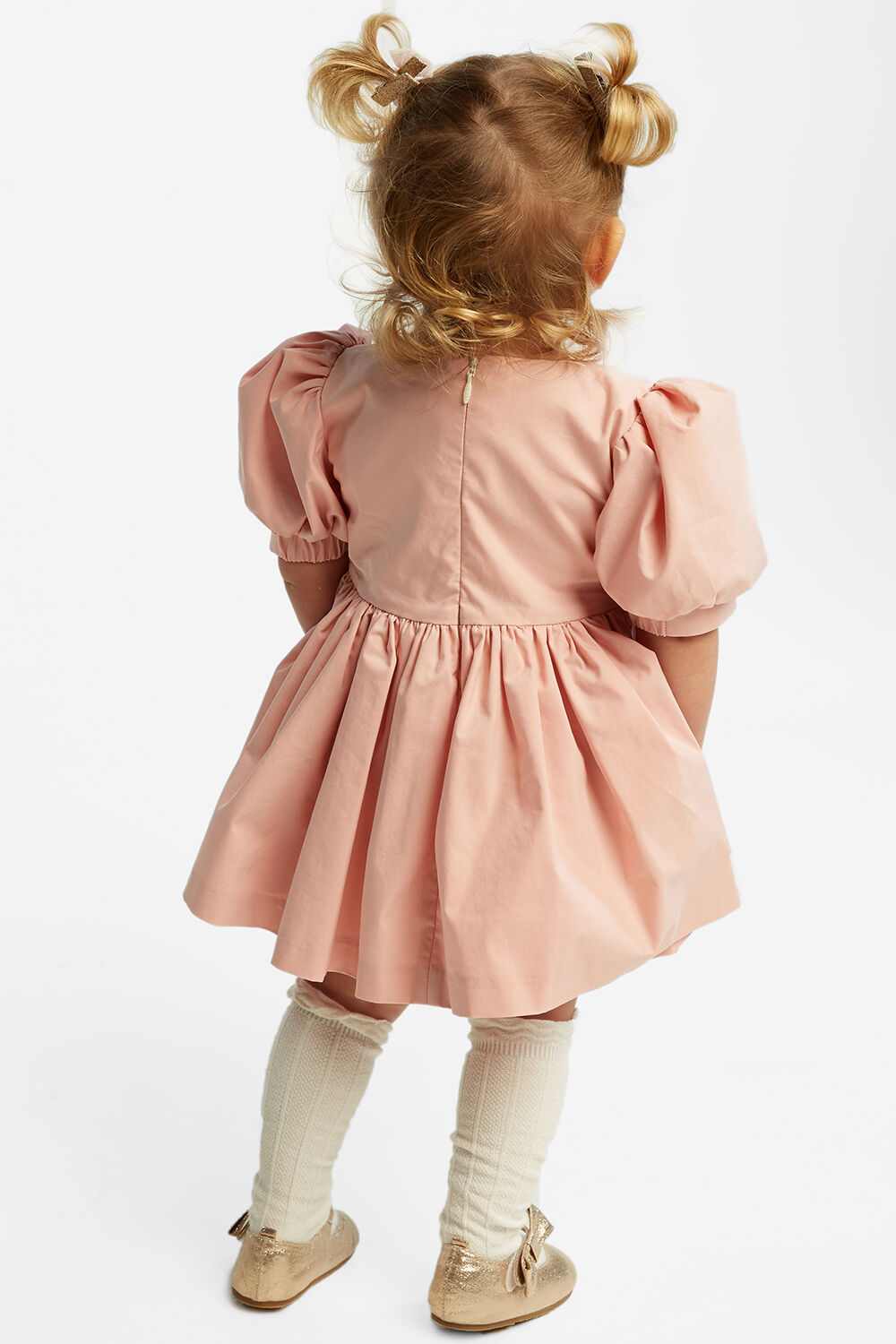 LANI BOWIE DRESS in colour PARFAIT PINK