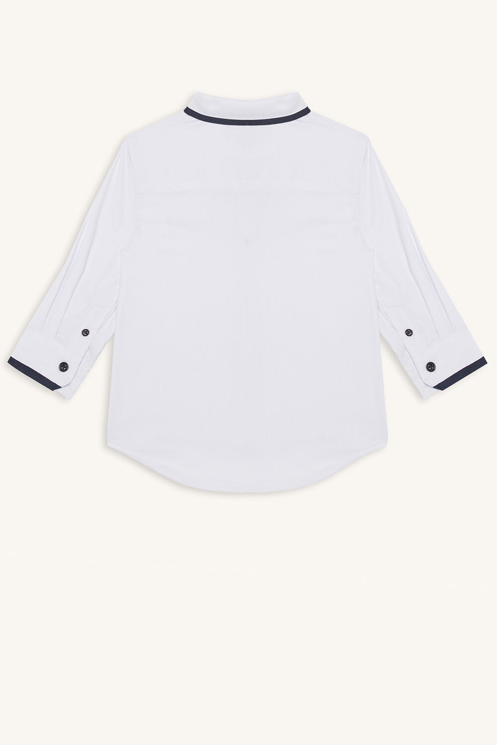 CONTRAST SHIRT in colour BRIGHT WHITE