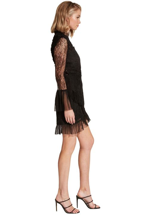 WISTONIA LACE DRESS in colour CAVIAR