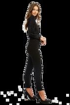 SKINNY PINTUCK PANT in colour CAVIAR