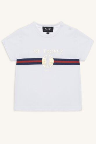 ST TROPEZ TEE in colour BRIGHT WHITE
