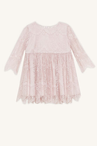 GERTRUDE LACE DRESS in colour POTPOURRI