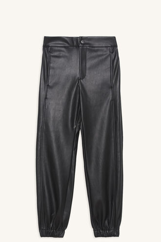 MISCHIEF PU PANT in colour JET BLACK