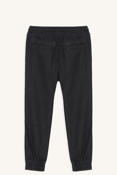 CHAMBRAY SLOUCH PANT in colour ASH