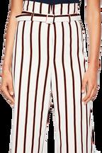 STRIPE BELT PANT in colour CLOUD DANCER