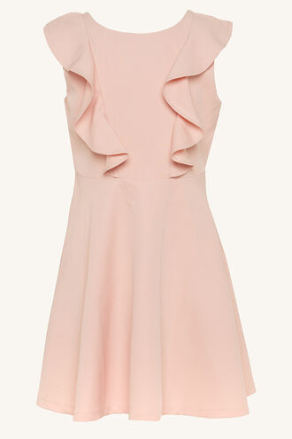 RILEY RUFFLE DRESS in colour POTPOURRI