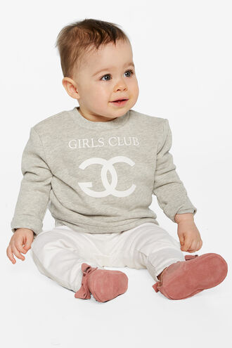GIRLS CLUB SWEAT TOP in colour MOONBEAM