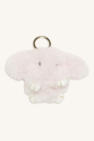 BUNNY KEY RING in colour IMPATIENS PINK