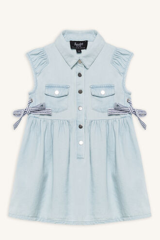 LACE UP DRESS in colour BABY BLUE