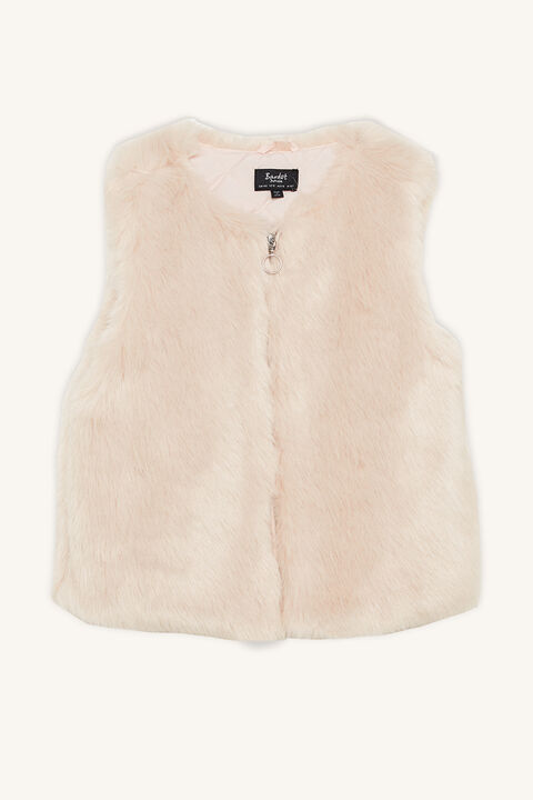 OLIVIA FURRY JACKET in colour POWDER PUFF
