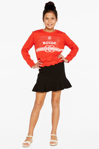 SHINE ROUGE SWEAT in colour FIERY RED