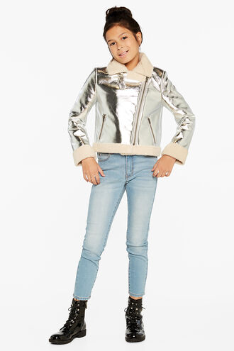 IRIS METALLIC BIKER in colour SILVER