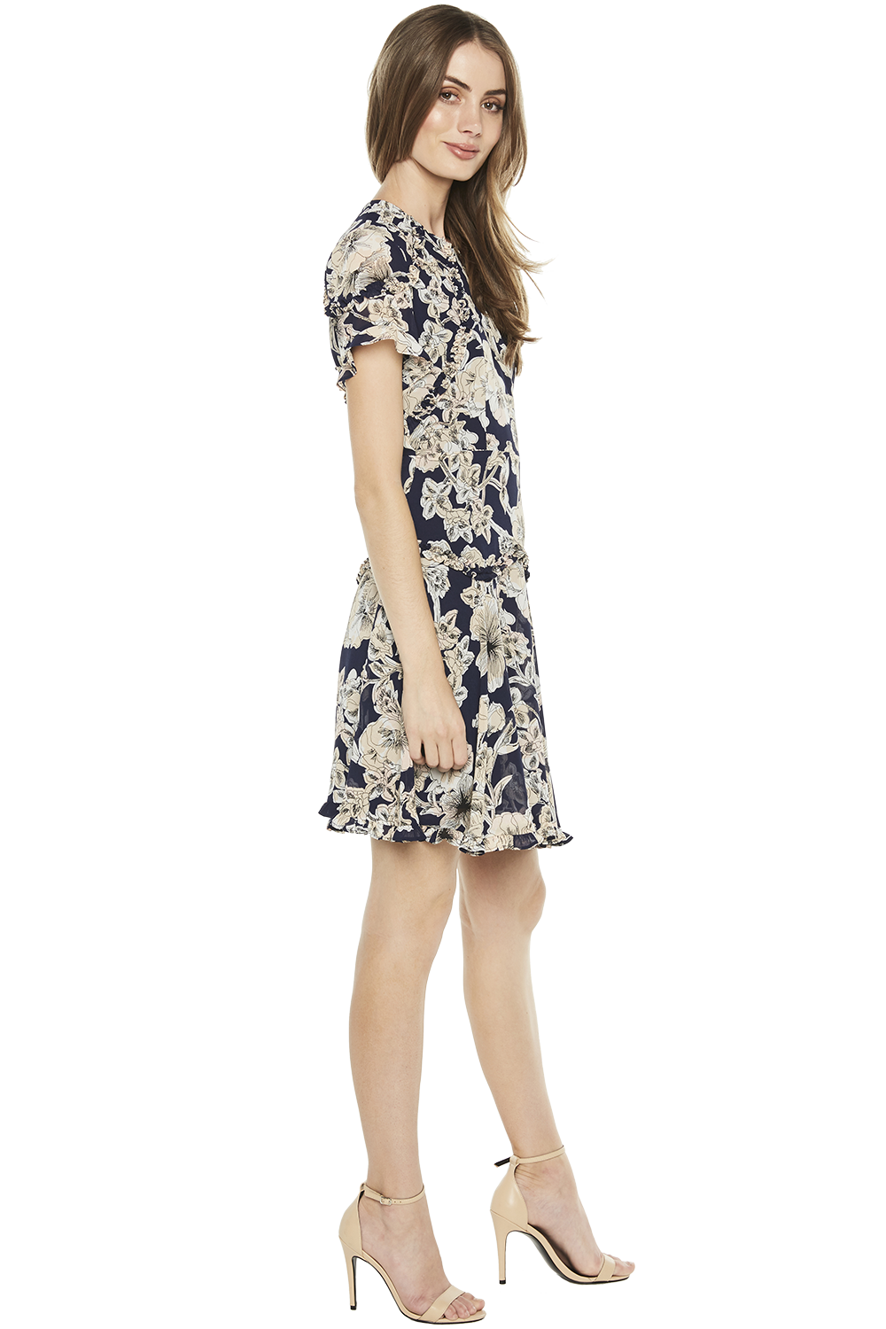 BRIANNA DRESS in colour CLOUD DANCER