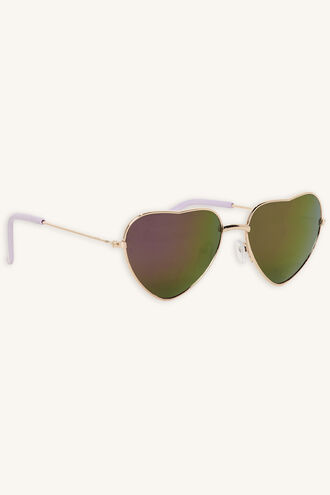 MIA HEART METAL SUNGLASSES in colour BRIGHT WHITE