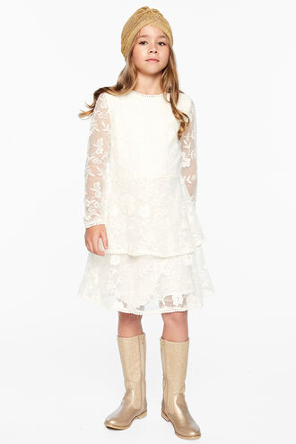 EMBER LACE DRESS in colour CLOUD DANCER