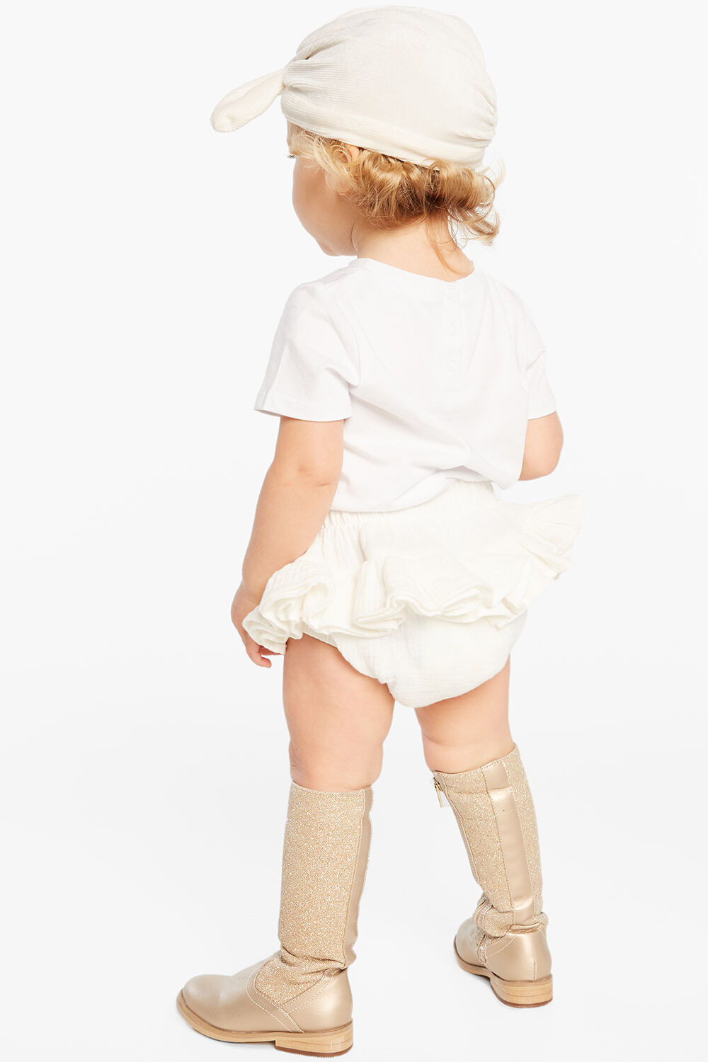 RUFFLE BUM BLOOMER in colour CLOUD DANCER