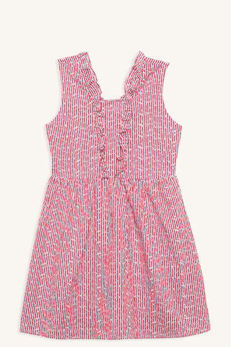 JOANIE DRESS in colour CRANBERRY