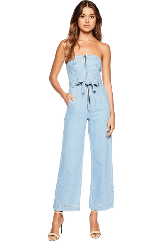 WIDE LEG DNM ROMPER in colour CITADEL