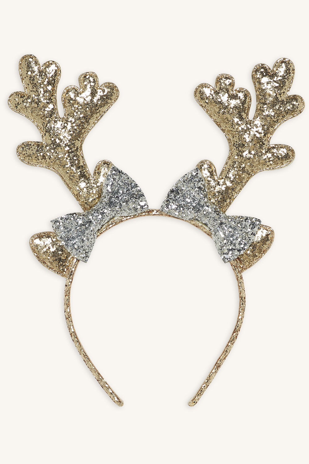 GLITTER REINDEER EARS in colour HARVEST GOLD