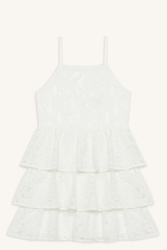 CARTIA TIER DRESS in colour CLOUD DANCER