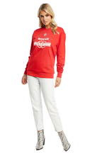 ROUGE SWEAT TOP in colour HIGH RISK RED
