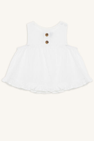BRODERIE SWING TOP in colour BRIGHT WHITE
