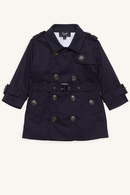 ROMEO CHECK TRENCH COAT in colour BLACK IRIS