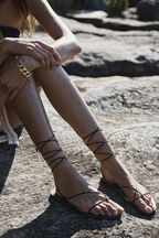 CECILE STRAPPY SANDAL in colour METEORITE