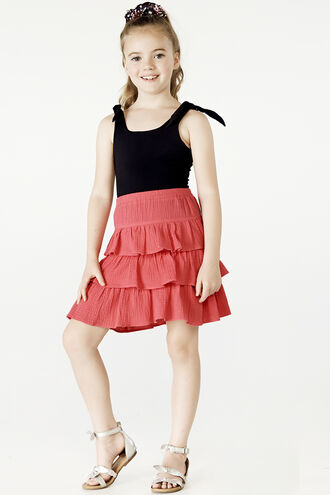 GYPSY SKIRT in colour SHOCKING PINK
