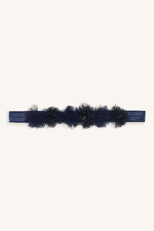 LITTLE FLORAL HEADBAND in colour BLACK IRIS