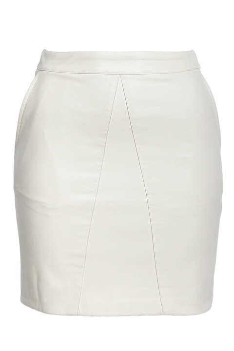 ALEXIS PU SKIRT in colour CLOUD DANCER
