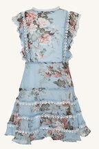 TWEEN GIRL SADIE TRIM DRESS in colour BIT OF BLUE