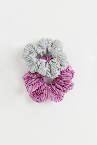 SHIMMER SCRUNCHIE in colour PARADISE PINK
