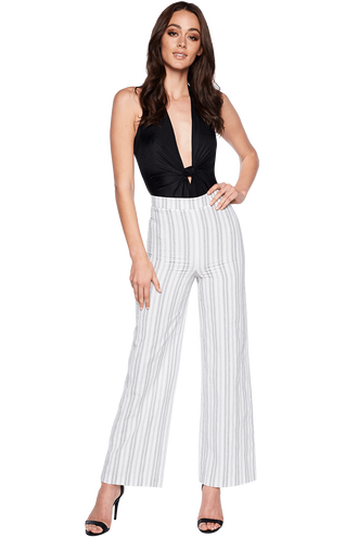 LARISSA STRIPE PANT in colour CLOUD DANCER