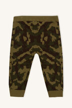 CAMO KNIT PANT in colour BURNT OLIVE