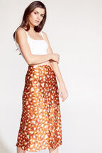 MAYAH SPLICED SKIRT in colour GOLDEN OCHRE