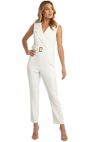 ZALIA JUMPSUIT in colour CLOUD DANCER