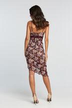 DALIA LACE DRESS in colour CORDOVAN