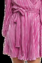 BELLISSA PLEAT DRESS in colour PURPLE ORCHID