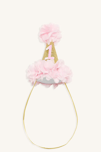 PRETTY FLOWER 1ST BIRTHDAY HAT in colour PINK CARNATION