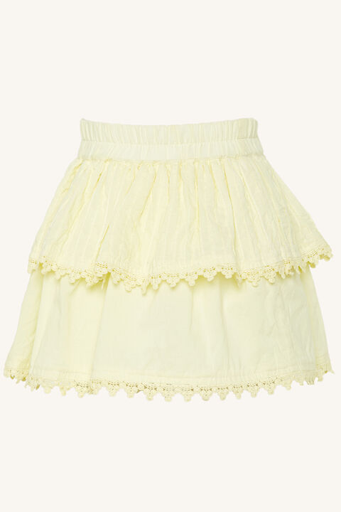 INES RUFFLE SKIRT in colour TRANSPARENT YELLOW