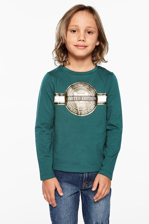 CREST LONGSLEEVE TOP in colour SYCAMORE
