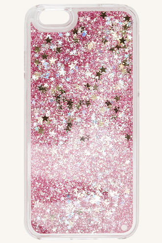 GLITTER PHONE COVER in colour HOT PINK