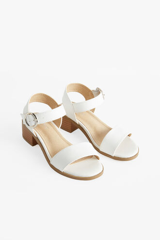 CALLIA BUCKLE HEEL in colour CLOUD DANCER